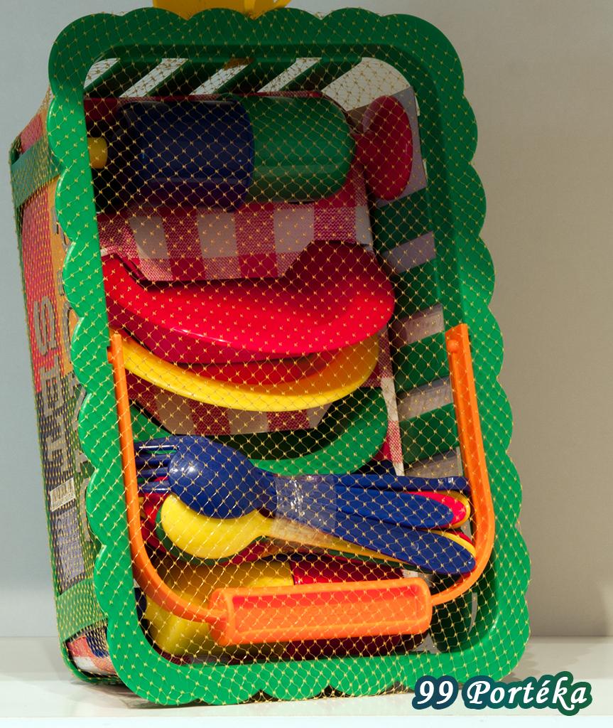 Műanyag Étkészlet